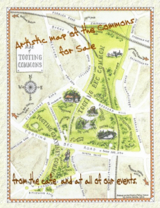 Tooting Common map